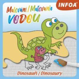 Malování / Maľovanie vodou – Dinosauři / Dinosaury