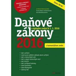 Daňové zákony 2016 - Zuzana Rylová; Zlatuše Tunkrová; Zdeněk Krůček; Ivo Šulc