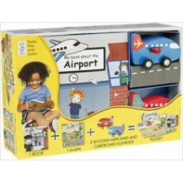 My Little Book about Airplanes(Book, Wooden Toy & 16-piece Puzzle)