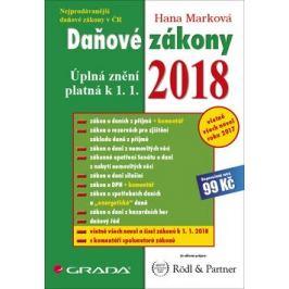 Daňové zákony 2018 - Úplná znění k 1. 1. 2018 - Hana Marková