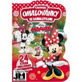 Minnie - Tvarované omalovánky se samolepkami
