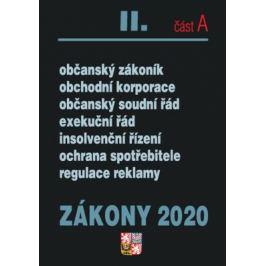 Zákony II část A 2020 – Občanské zákony, ochrana spotřebitele - Úplná znění po novelách k 1. 1. 2020