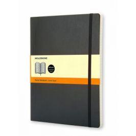 Moleskine: Zápisník měkký linkovaný černý XL