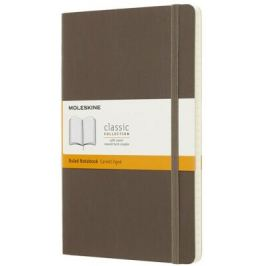 Moleskine: Zápisník měkký linkovaný hnědý L