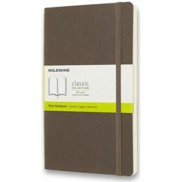 Moleskine: Zápisník měkký čistý hnědý L