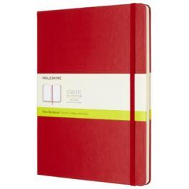 Moleskine - zápisník tvrdý, čistý, červený XL
