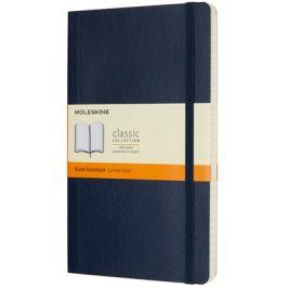 Moleskine - zápisník měkký, linkovaný, modrý L