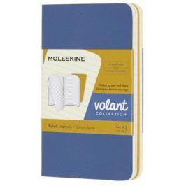 Moleskine: Volant zápisníky linkované modrý žlutý XS