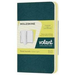 Moleskine: Volant zápisníky linkované zelený žlutý XS