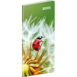 Kapesní diář Beruška 2021, plánovací měsíční, 8 × 18 cm
