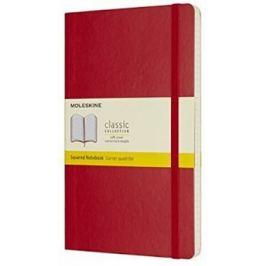 Moleskine: Zápisník měkký čtverečkovaný červený L