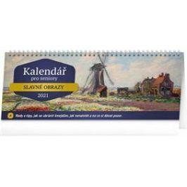 Stolní kalendář Kalendář pro seniory 2021, 33 × 12,5 cm