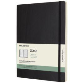 Moleskine: Plánovací zápisník 2020-2021 měkký černý XL