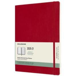 Moleskine: Plánovací zápisník 2020-2021 měkký červený XL