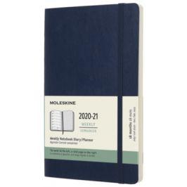 Moleskine: Plánovací zápisník 2020-2021 měkký modrý L