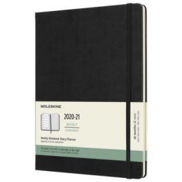 Moleskine: Plánovací zápisník 2020-2021 tvrdý černý XL