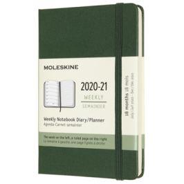 Moleskine: Plánovací zápisník 2020-2021 tvrdý zelený S