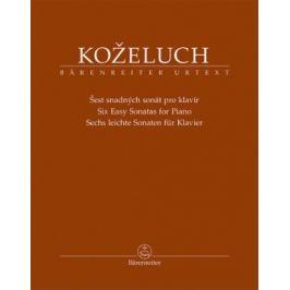 Šest snadných sonát pro klavír - Leopold Koželuh