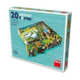 Dřevěné kostky 20K Na statku