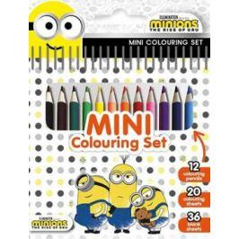 Mimoni 2 - Mini set s pastelkami Omalovánky
