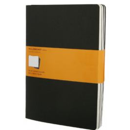 Moleskine - Notes 3 ks - linkované, černé XL