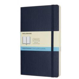 Moleskine - zápisník - tečkovaný, modrý L