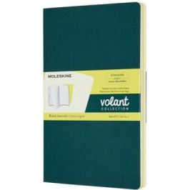 Moleskine - zápisníky Volant 2 ks - linkované, zelený a žlutý L