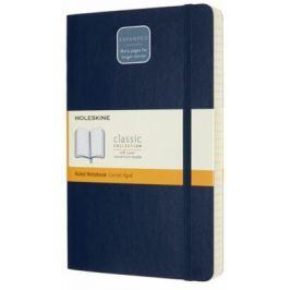Moleskine: Zápisník Expanded měkký linkovaný modrý L