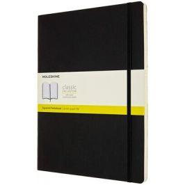 Moleskine: Zápisník měkký čtverečkovaný černý XXL