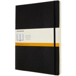 Moleskine: Zápisník měkký linkovaný černý XXL