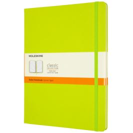 Moleskine: Zápisník tvrdý linkovaný žlutozelený XL Pevná vazba