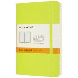 Moleskine: Zápisník měkký linkovaný žlutozelený S Kapesní S (9x14xm)