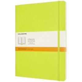Moleskine: Zápisník měkký linkovaný žlutozelený XL Extra velké XL (19x25cm)