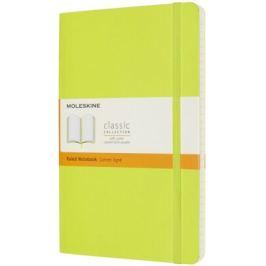 Moleskine: Zápisník měkký linkovaný žlutozelený L Velké L (13x21cm)