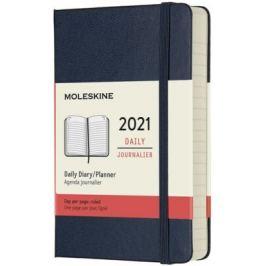 Diář Moleskine 2021 denní tvrdý modrý S