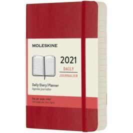 Diář Moleskine 2021 denní měkký červený S