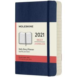 Diář Moleskine 2021 denní měkký modrý S