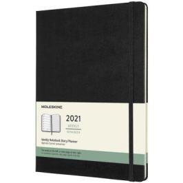 Plánovací zápisník Moleskine 2021 tvrdý černý XL