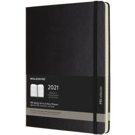 Vertikální PRO diář Moleskine 2021 tvrdý XL