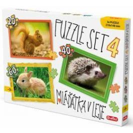 Puzzle SET 4 - Mláďátka v lese 24 - 999 dílků