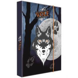 Box na sešity A5 vlk Školní desky