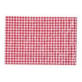 Ubrus 65x50cm červeno-bílé kostky