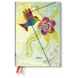 Paperblanks Diář - Hummingbird / midi denní