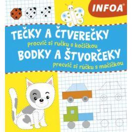 Tečky a čtverečky - Procvič si ručku s kočičkou / Bodky a štvorčeky - Precvič si rúčku s mačičkou Kreativní knížky