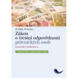Zákon o trestní odpovědnosti právnických osob - Jiří Jelínek, Jiří Herczeg Zákony