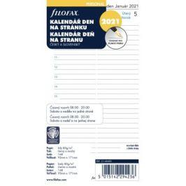Filofax kalendář 2021 osobní, den/1 str., link, ČJ+SJ