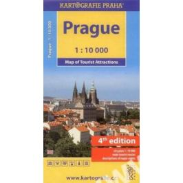 Prague - Mapa turistických zajímavostí 1:10 000