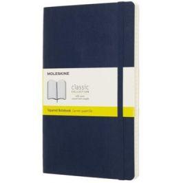 Moleskine: Zápisník měkký čtverečkovaný modrý L