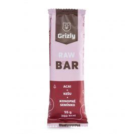 GRIZLY RAW Bar acai-kešu-konopné semínko 55 g