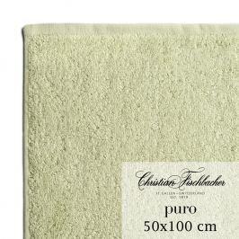 Christian Fischbacher Ručník 50 x 100 cm bledě zelený Puro, Fischbacher